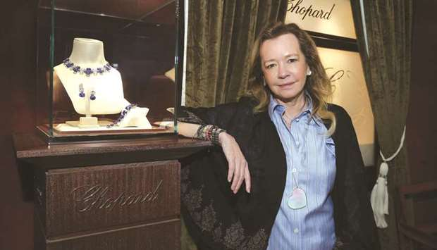 Caroline Scheufele showcasing some of Chopard's collections at DJWE 2020. PICTURE: Jayan Orma