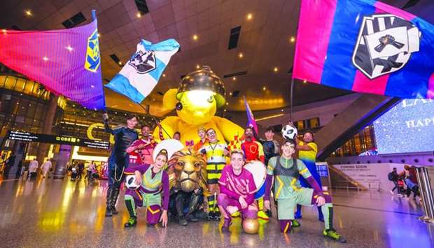The Messi 10 artists at HIA's grand foyer