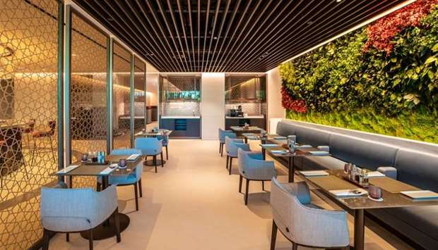 The new lounge, the national airline said, serves as the benchmark and blueprint for Qatar Airways'
