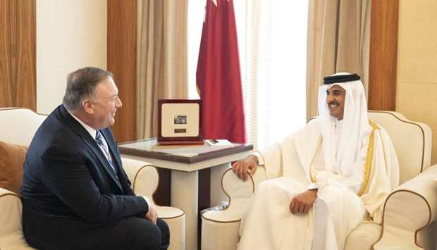 Amir meets US Secretary of State