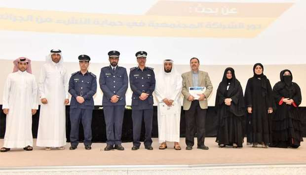 HE the Director of Public Security Staff Major General Saad bin Jassim al-Khulaifi and a number of o