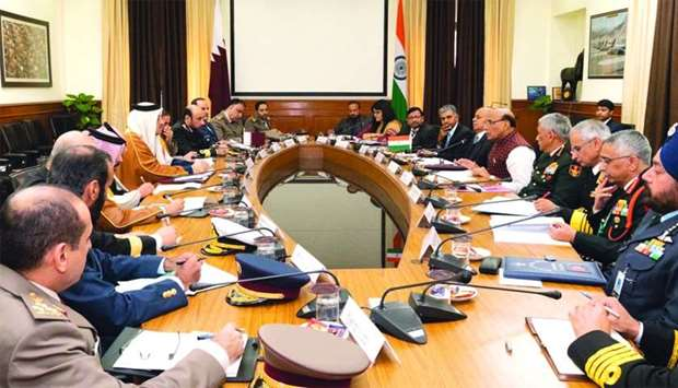 The Deputy Prime Minister and Minister of State for Defence Affairs meets the Indian Minister of Def