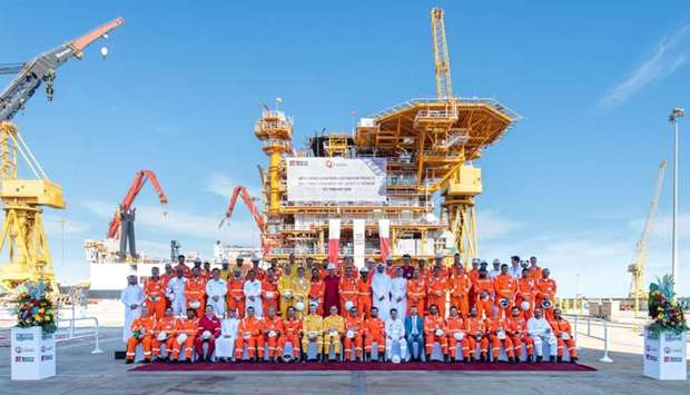 Qatargas has successfully completed the onshore fabrication of the living quarters' structure locall