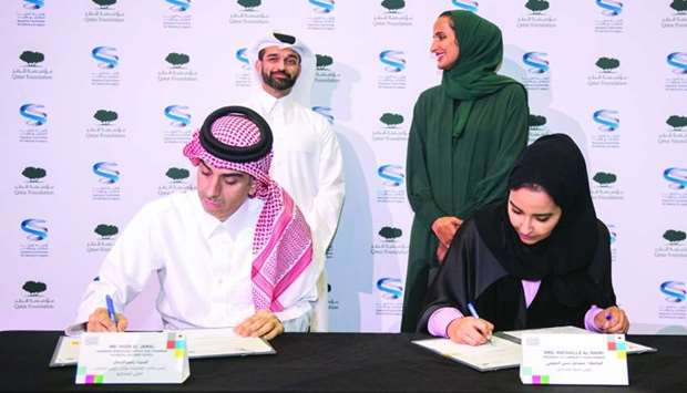 QF, SC officials sign the pact in developing Qatar 2022 visitor experience as HE Sheikha Hind bint H