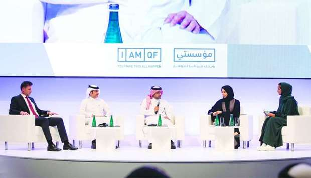 The panel discussion moderated by QF vice chairperson and CEO HE Sheikha Hind bint Hamad al-Thani.