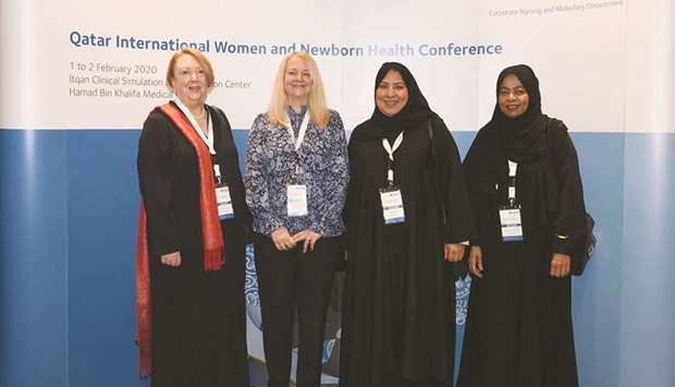 Officials at the Qatar International Women and Newborn Health Conference.
