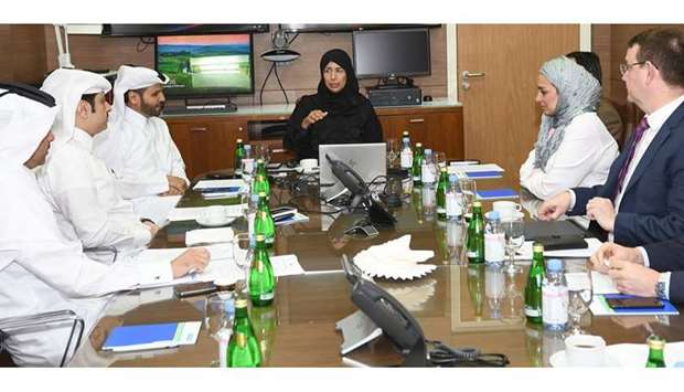 HE the Minister of Public Health Dr. Hanan Mohamed Al Kuwari with the staff and officials of Hamad M