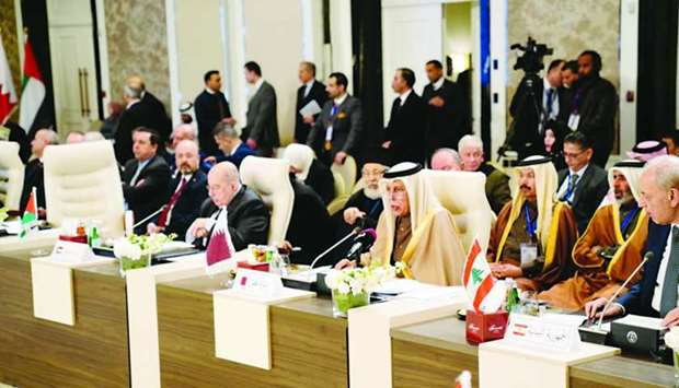 HE the Speaker of the Shura Council Ahmed bin Abdullah bin Zaid al-Mahmoud at Arab Inter-Parliamenta