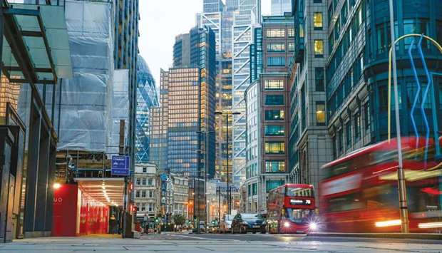 Vehicles pass through the City of London. February is shaping up to be another busy month for London