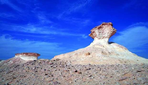 Rock formations serve as popular attractions for visitors.