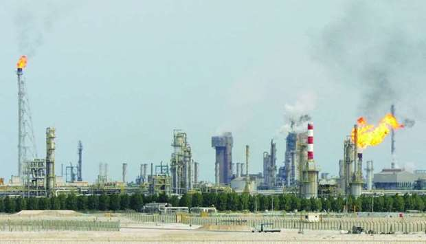 This file photo taken on February 1, 2006 shows an oil refinery on the outskirts of Doha.