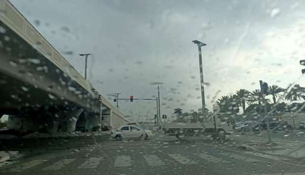 Rain in Doha Tuesday. PICTURES: Jayaram
