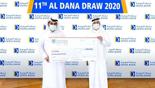 The special prize of QR1mn dedicated for celebrating Qatar National Day was won by Y I al-Muhsin.