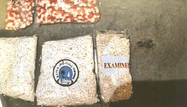 A total of 6,868 Lyrica pills were seized after a customs official suspected and checked a cargo wit
