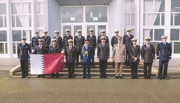 Graduation ceremony for Qatari officer candidates from the French Naval College