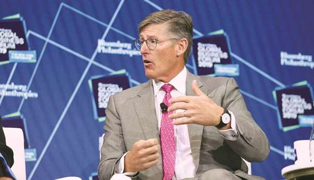 Michael Corbat, CEO of Citigroup, speaks during the Bloomberg Global Business Forum in New York. Cor