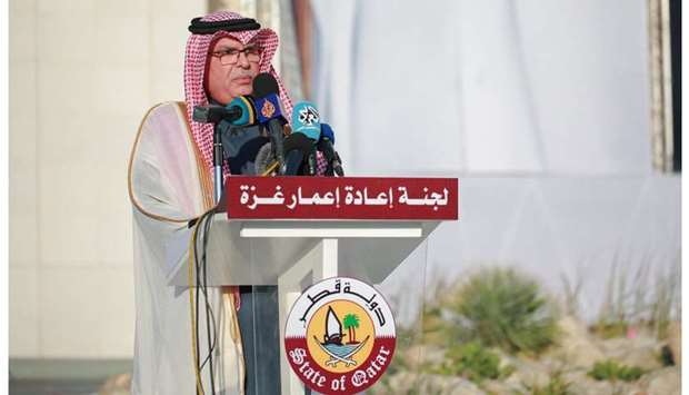 Qatar committee for reconstruction of Gaza affirms Qatar's continuous support for Palestinians