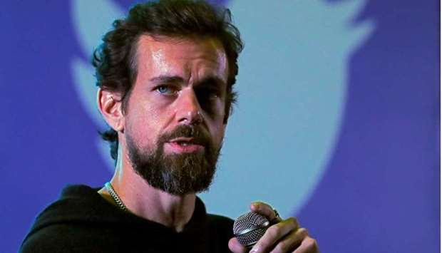 Twitter CEO Jack Dorsey addresses students during a town hall at the Indian Institute of Technology