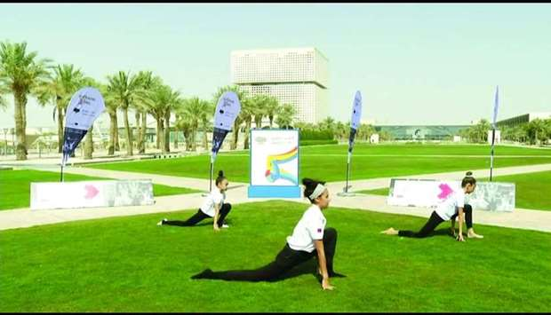 QF's Qatar Reads initiative teamed up with Olympic Stars and Warrior Fit to offer a gymnastic class