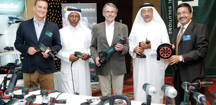 Gulf Incon and Metabo officials at the event.