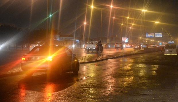 When rain lashed Doha Friday evening.