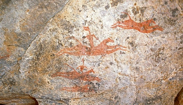 A cave painting in Chad