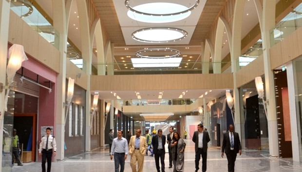 An interior view of Doha Festival City