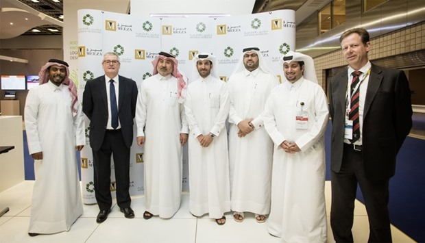 Meeza and Msheireb Properties officials at the signing ceremony