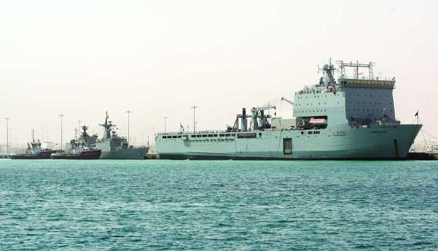 Carocan Bay, one of the British War ships at the Hamad Port