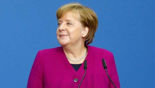German Chancellor and leader of the Christian Democratic Union (CDU) Angela Merkel
