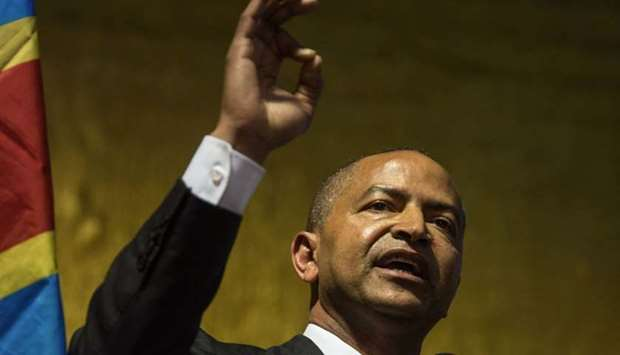Congolese opponent in exile, one of the main opponents of the Congolese president, Moise Katumbi ges