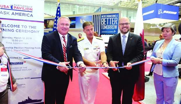 US embassy charge de affairs Ryan Gliha inaugurating the US Pavilion at the Dimdex. PICTURE: Shaji K