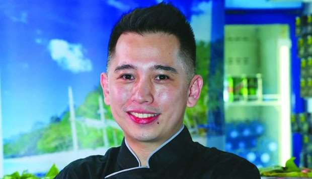 Luis Rey 'Nino' Logarta is the first Filipino chef to take part in QIFF's live cooking demonstration