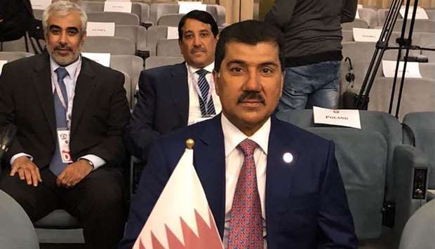 The Qatari delegation headed by HE the Secretary General of the Foreign Ministry, Dr Ahmed bin Hassa