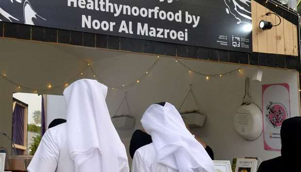 A healthy food stall at the festival
