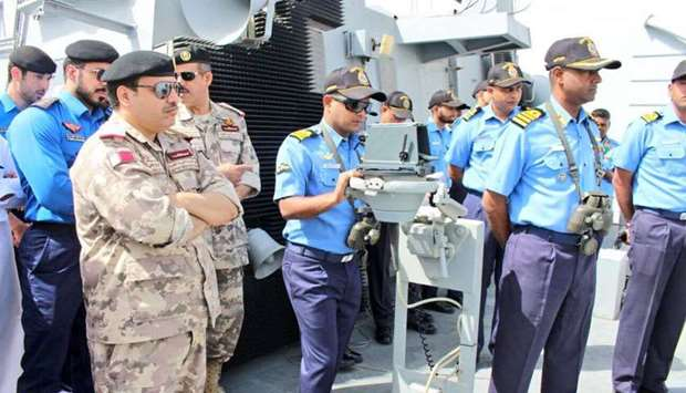 Qatar-India joint naval exercise
