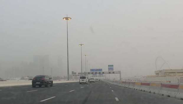 A view of dust in Doha Saturday evening. PICTURE: Shaji Kayamkulam
