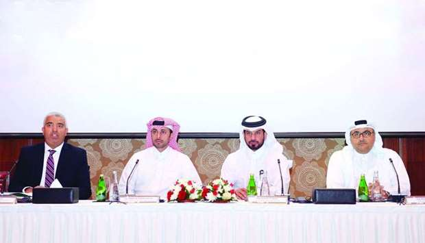 Ashghal Assistant President Abdulla Hamad al-Attiyah (second from left), Roads Project Development M