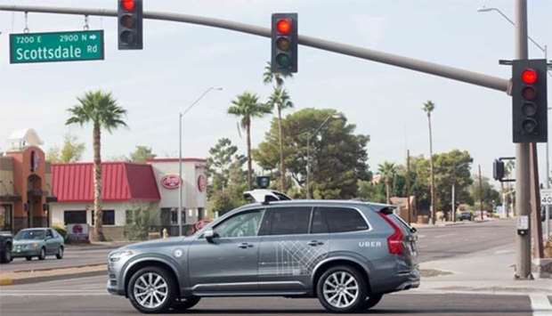 Uber self-driving vehicle