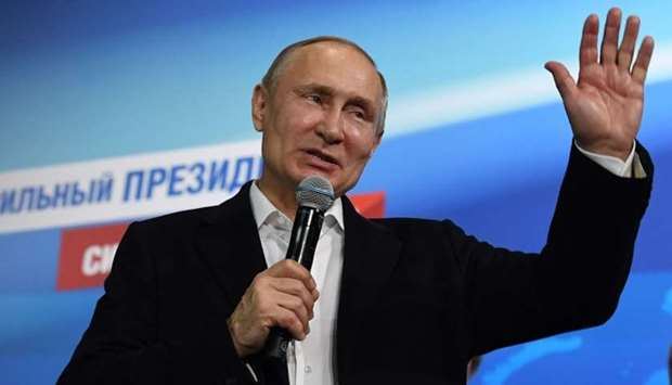 Putin re-elected as Russia's leader