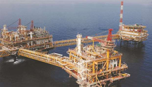 A view of the Qatargas offshore facilities at North Field