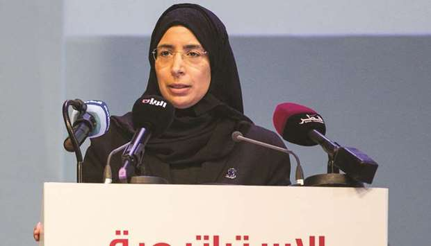 HE the Minister of Public Health Dr Hanan Mohamed al-Kuwari