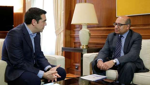 Greek PM Tsipras meets with President of the European Bank for Reconstruction and Development (EBRD)