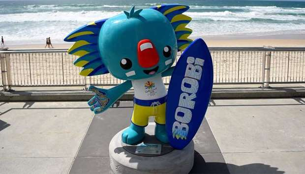 "A statue of ""Borobi"", the official mascot of the 2018 Gold Coast Commonwealth Games"