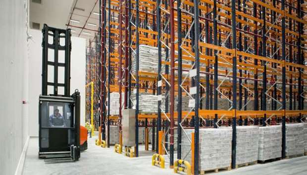 A view inside the Milaha Logistics City. The new facility marks Milaha's entry into cold chain solut