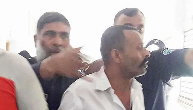 Rosu Khan appearing in court in Chandpur district in Chittagong Division