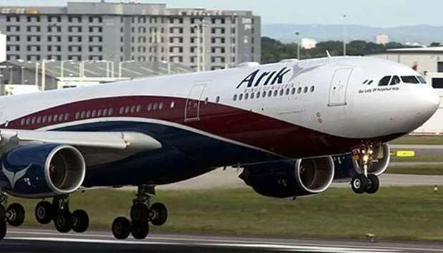 Image result for Smoke In Arik Air Plane Forces Pilot To Make Emergency Landing In Ghana