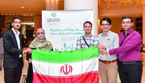 An Iranian team participating in the competition