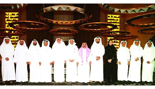 HE the Minister of Culture and Sports Salah bin Ghanem bin Nasser al-Ali with award winners.