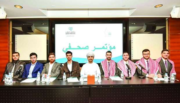 Members of both the teams that qualified for QatarDebate championship Grand Final.